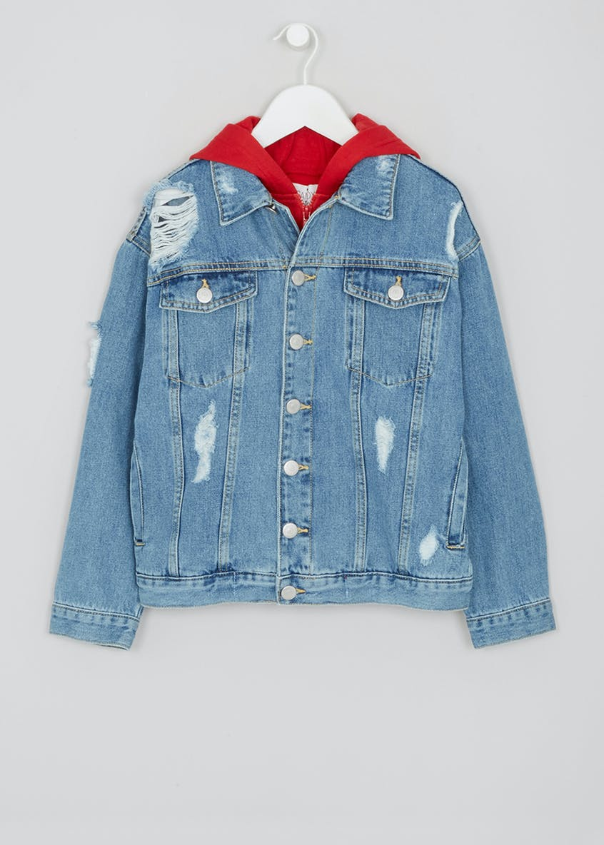 Girls Candy Couture Hooded Denim Jacket (9-16yrs)