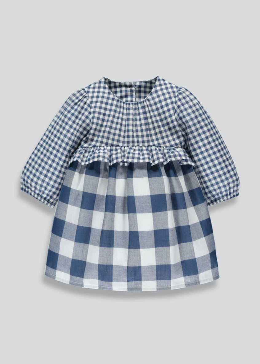 Girls Gingham Dress (Newborn-18mths)