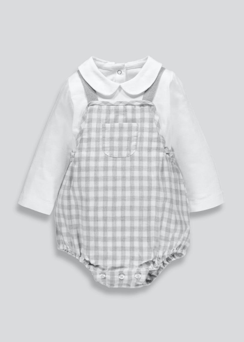Unisex Checked Romper (Newborn-18mths)