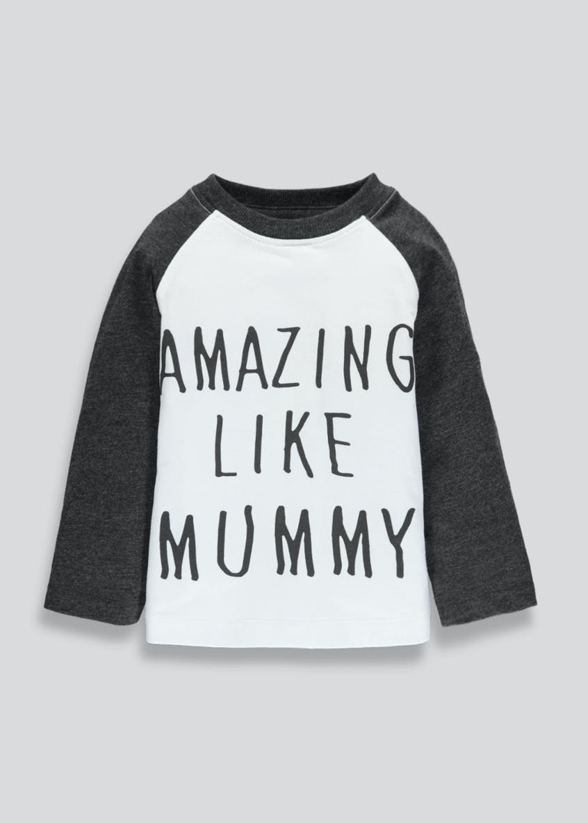 Kids Amazing Like Mummy Slogan T-Shirt (3mths-6yrs)