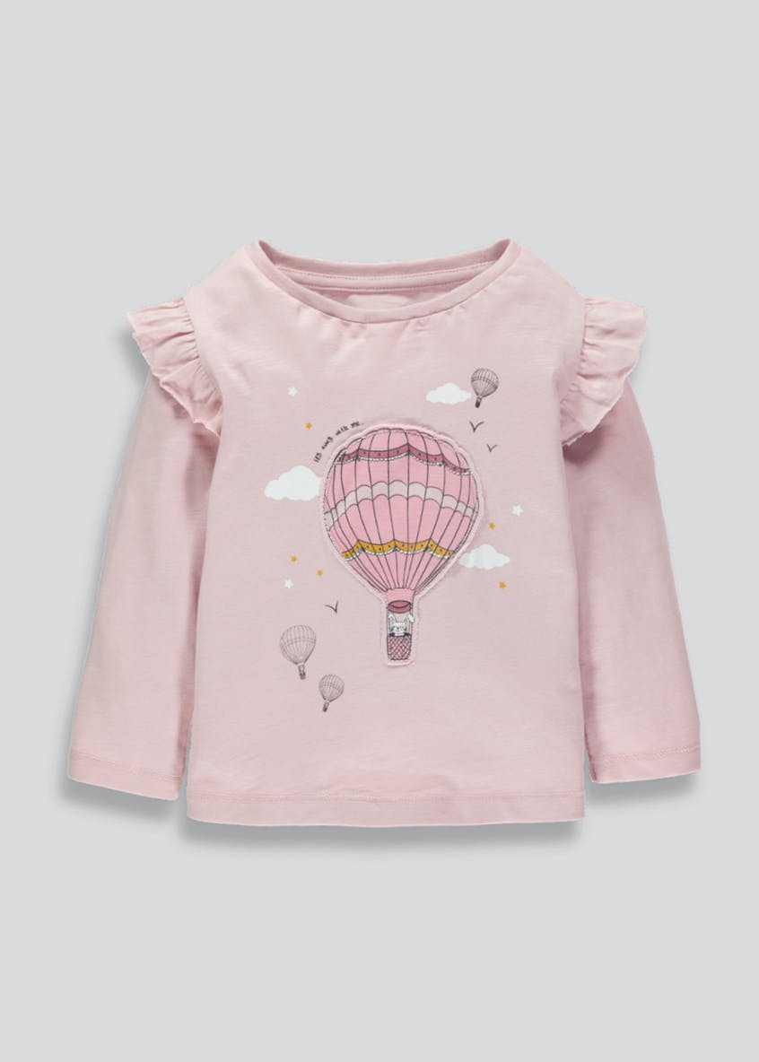 Girls Hot Air Balloon Long Sleeve T-Shirt (3mths-6yrs)