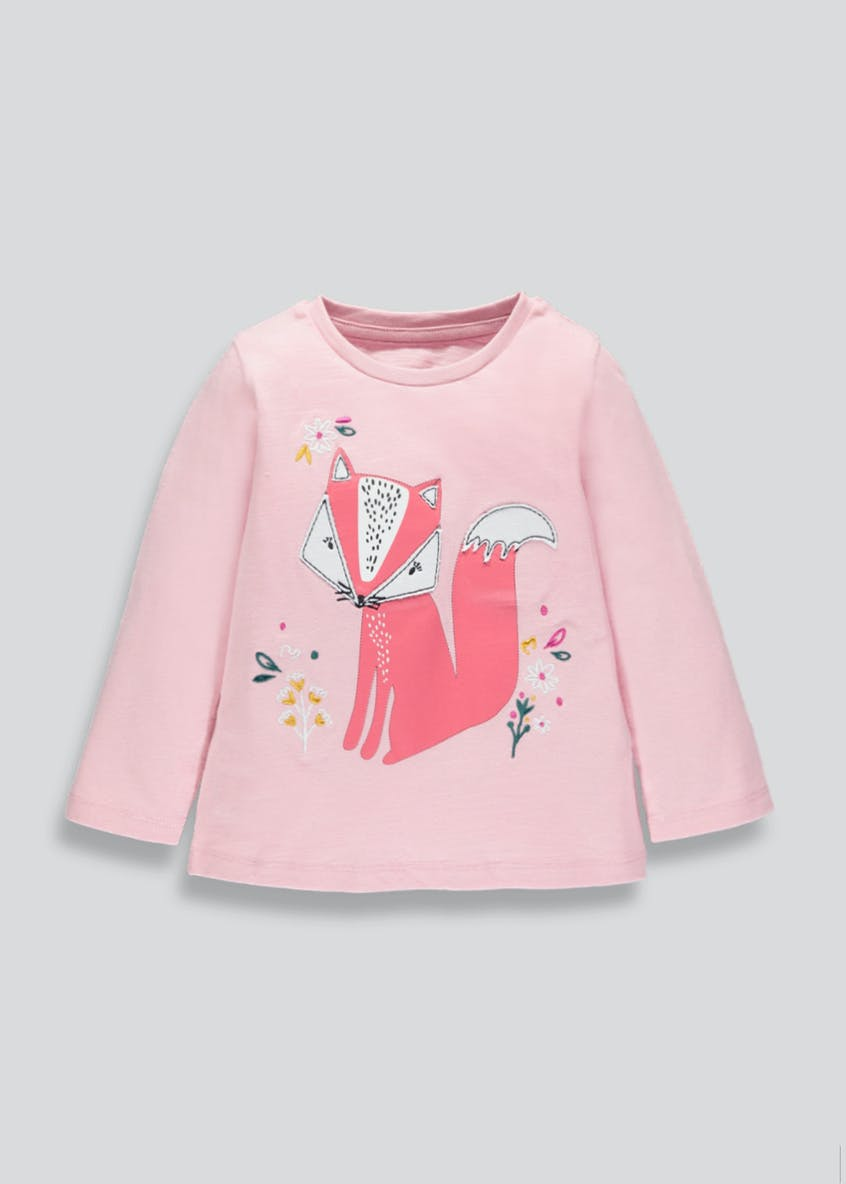 Girls Fox Long Sleeve T-Shirt (3mths-6yrs)