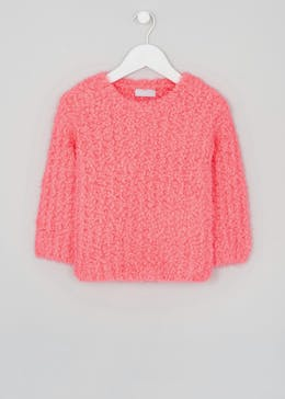 Girls Fluffy Popcorn Jumper (4-13yrs)