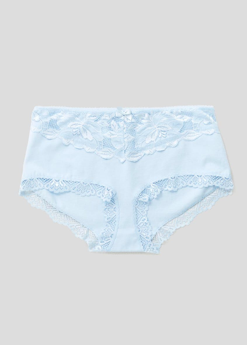 Lace Cotton Lycra Midi Knickers