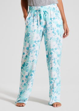 Floral Viscose Pyjama Bottoms