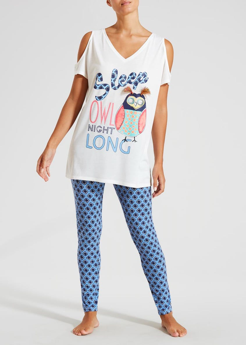 Owl Cold Shoulder Pyjama Set
