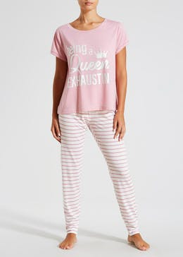 Queen Slogan Pyjama Set