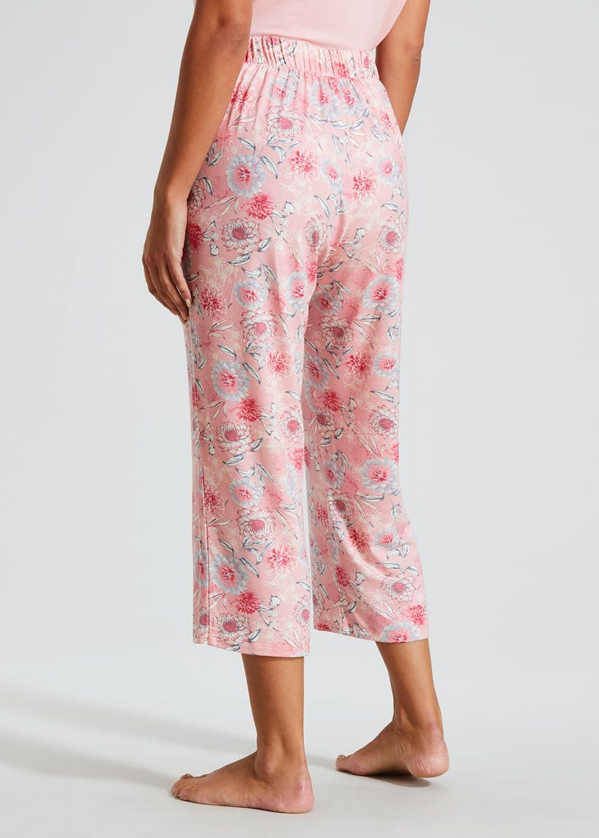 Floral Cropped Pyjama Bottoms
