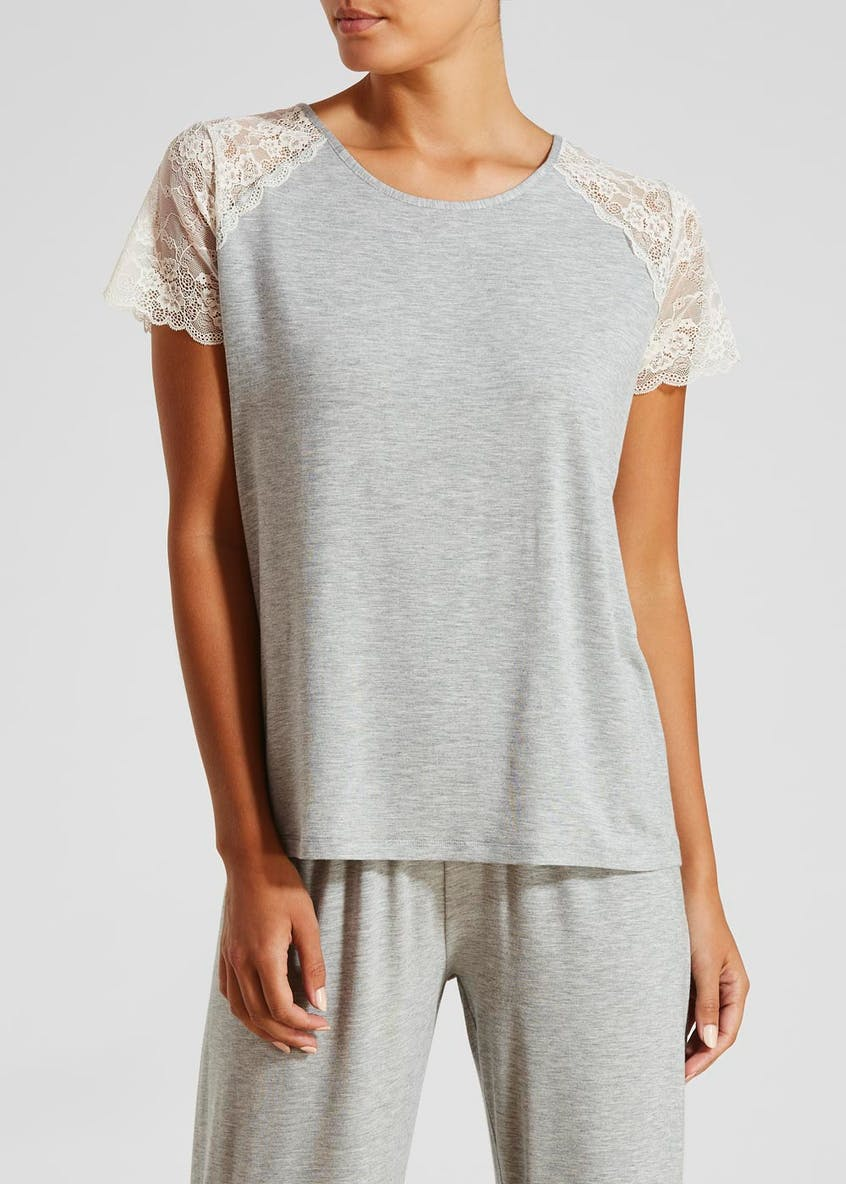 Lace Trim Pyjama Top