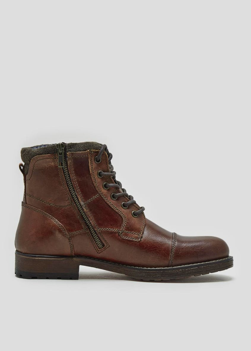 Real Leather Military Boots