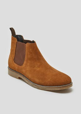 Real Suede Chelsea Boots