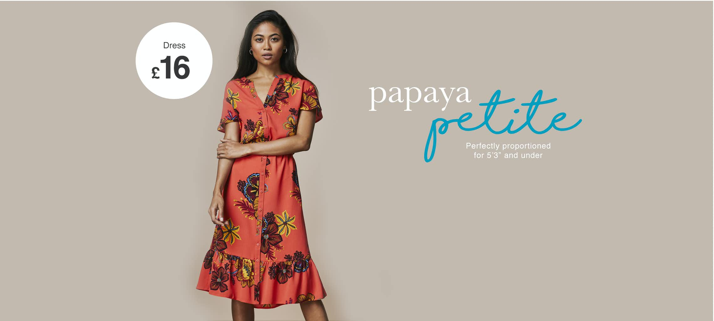 a083a2e21400 Introducing The Papaya Petite Collection – Matalan
