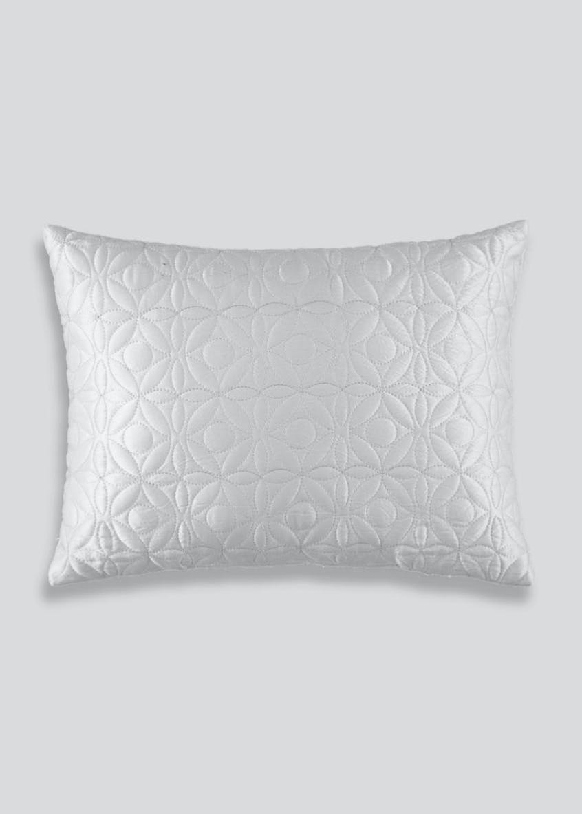 Geometric Quilted Cushion (40cm x 30cm)