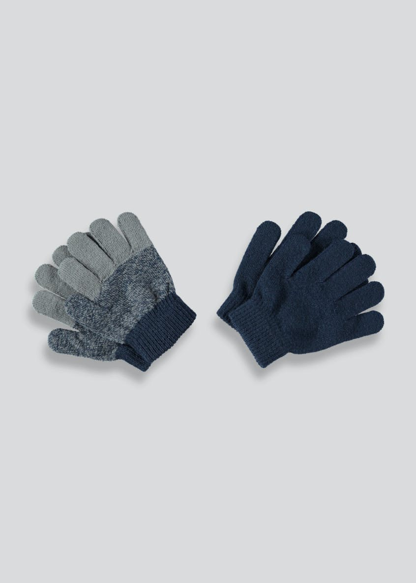Boys 2 Pack Magic Gloves (One Size)