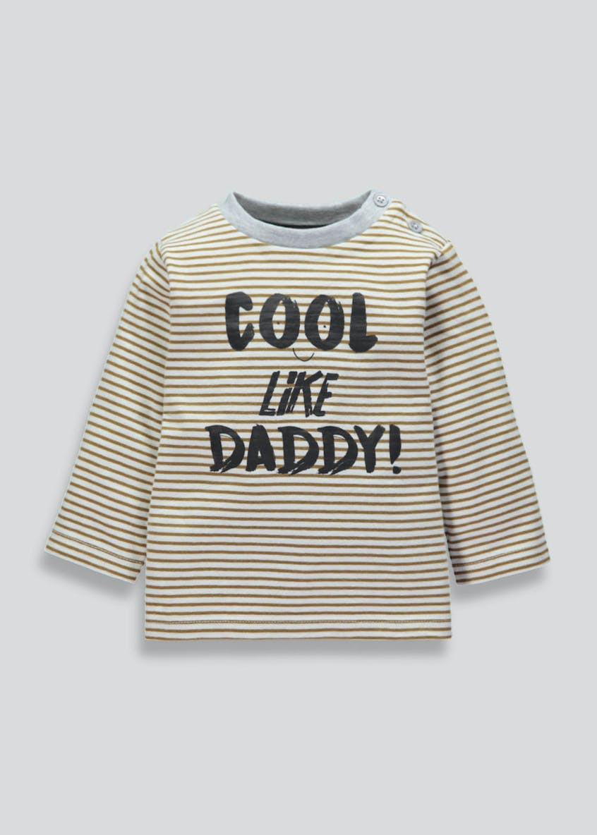 Unisex Cool Like Daddy Slogan T-Shirt (Tiny Baby-18mths)