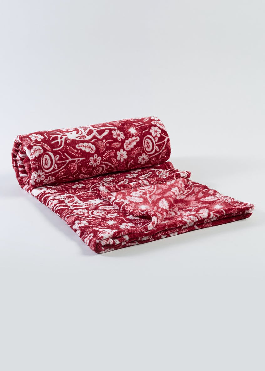 Woodland Print Throw (150cm x 130cm)