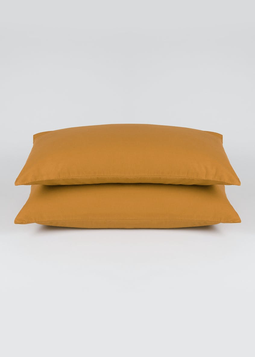 2 Pack 100%  Brushed Cotton Housewife Pillowcases