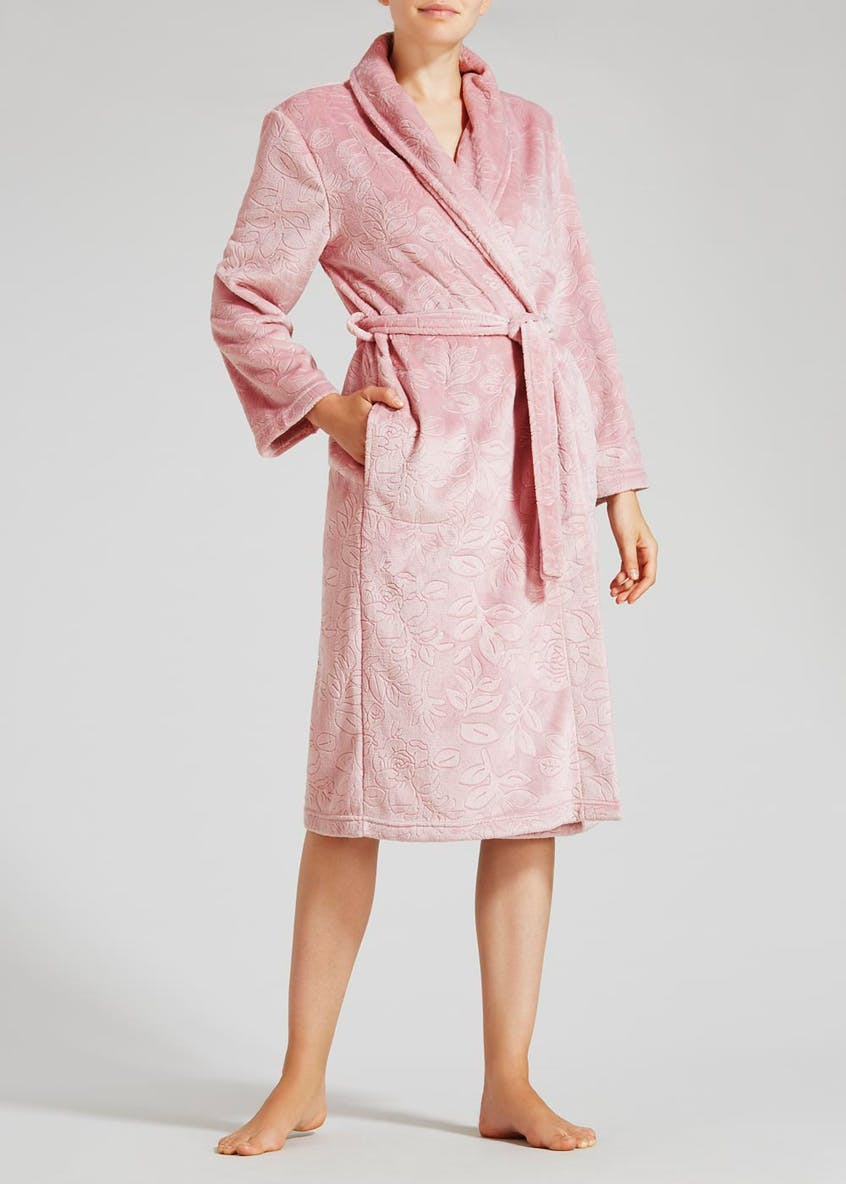 Floral Embossed Dressing Gown