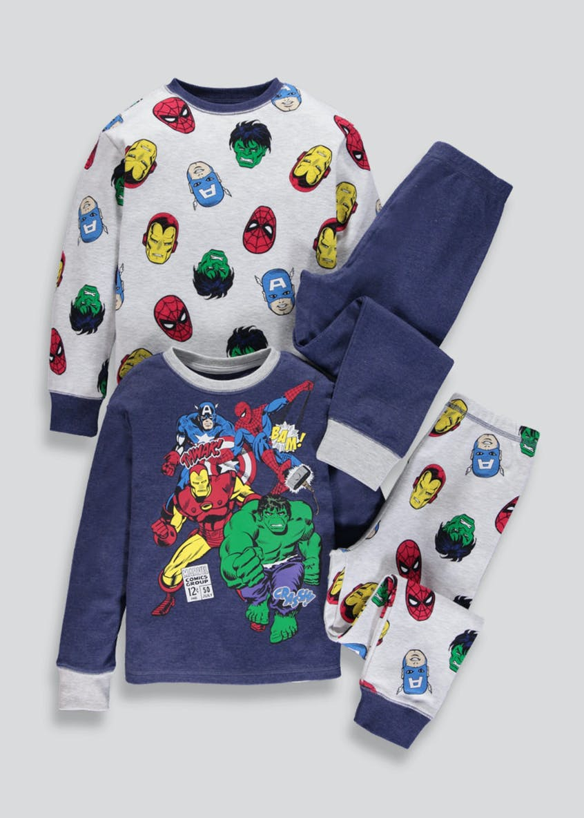 Kids 2 Pack Marvel Avengers Pyjamas (2-9yrs)