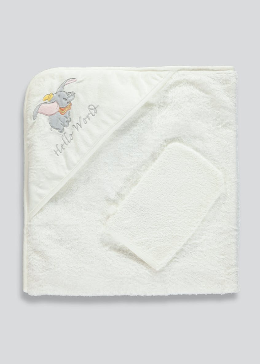 Disney Dumbo Hooded Baby Towel & Wash Mitt (One Size)