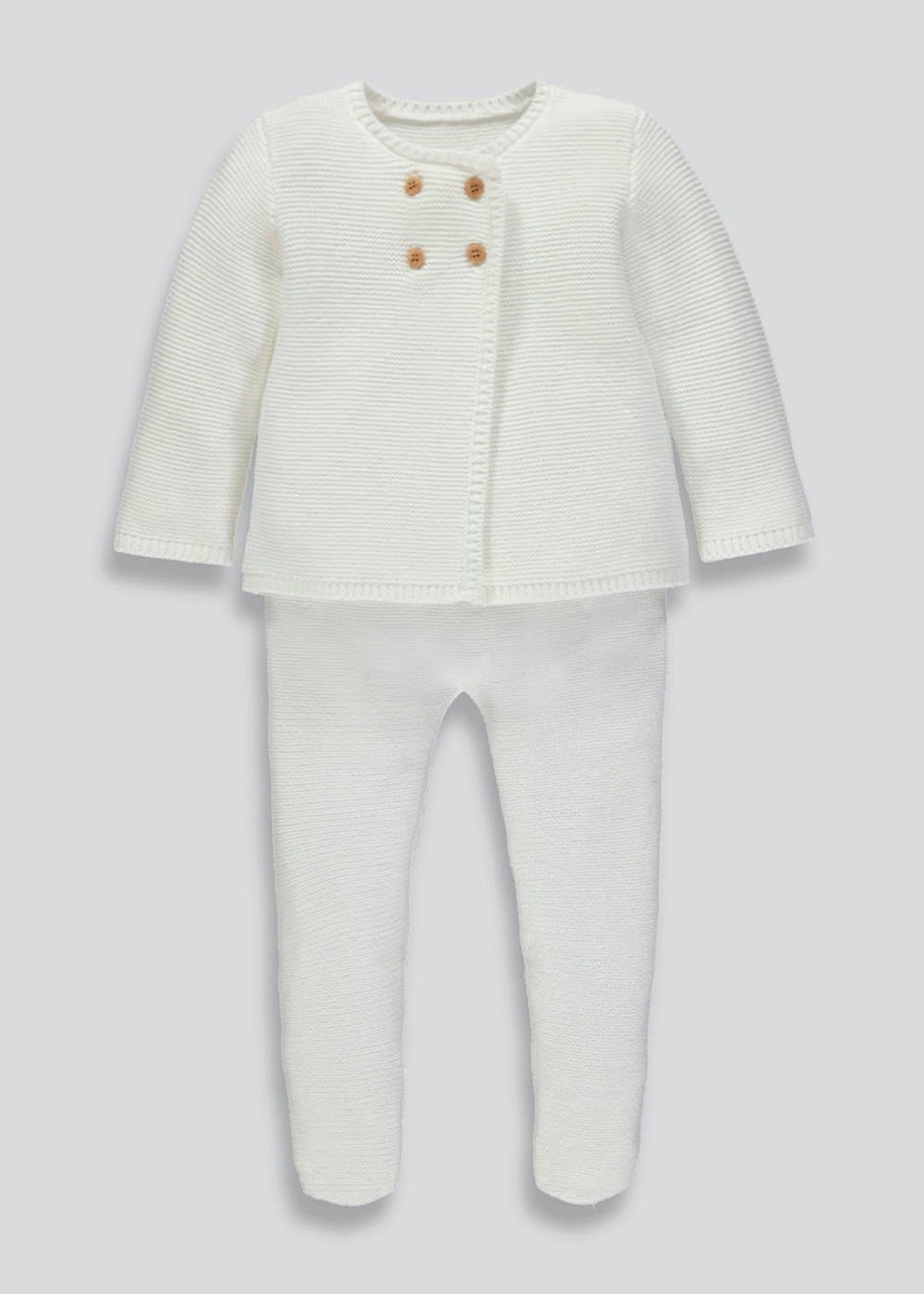 5f4175a10777 Unisex Knitted Cardigan   Trousers Set (Tiny Baby-18mths) – – Matalan