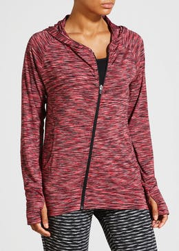 Souluxe Space Dye Zip Through Sweatshirt