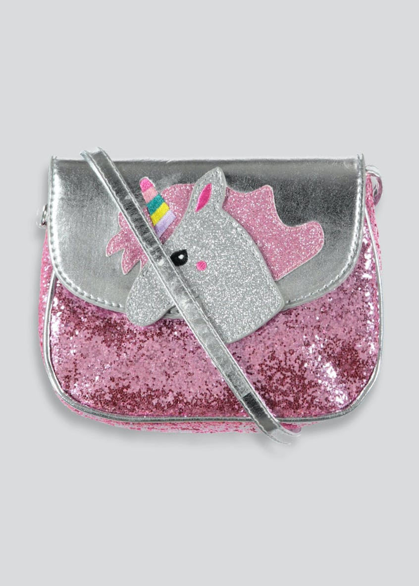 Girls Unicorn Glitter Cross-Body Bag