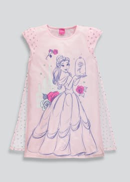Kids Disney Beauty and the Beast Belle Nightie with Cape (2-9yrs)