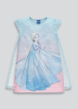 Kids Disney Frozen Elsa Nightie with Cape (2-9yrs)