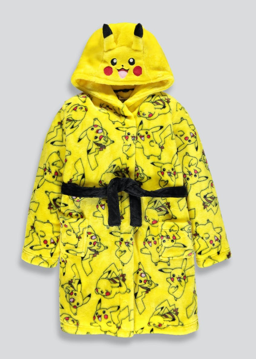 Kids Pokémon Pikachu Dressing Gown (5-12yrs)