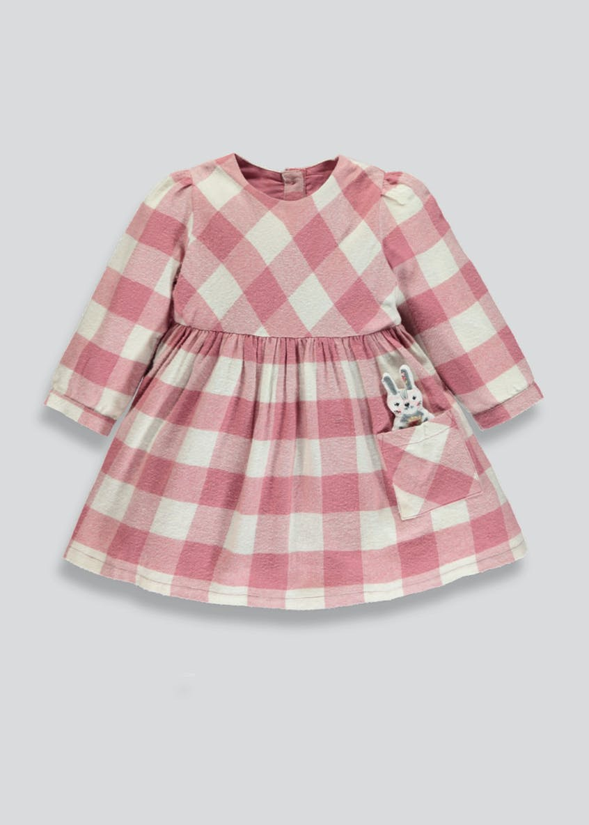 Girls 3D Bunny Check Dress (3mths-6yrs)