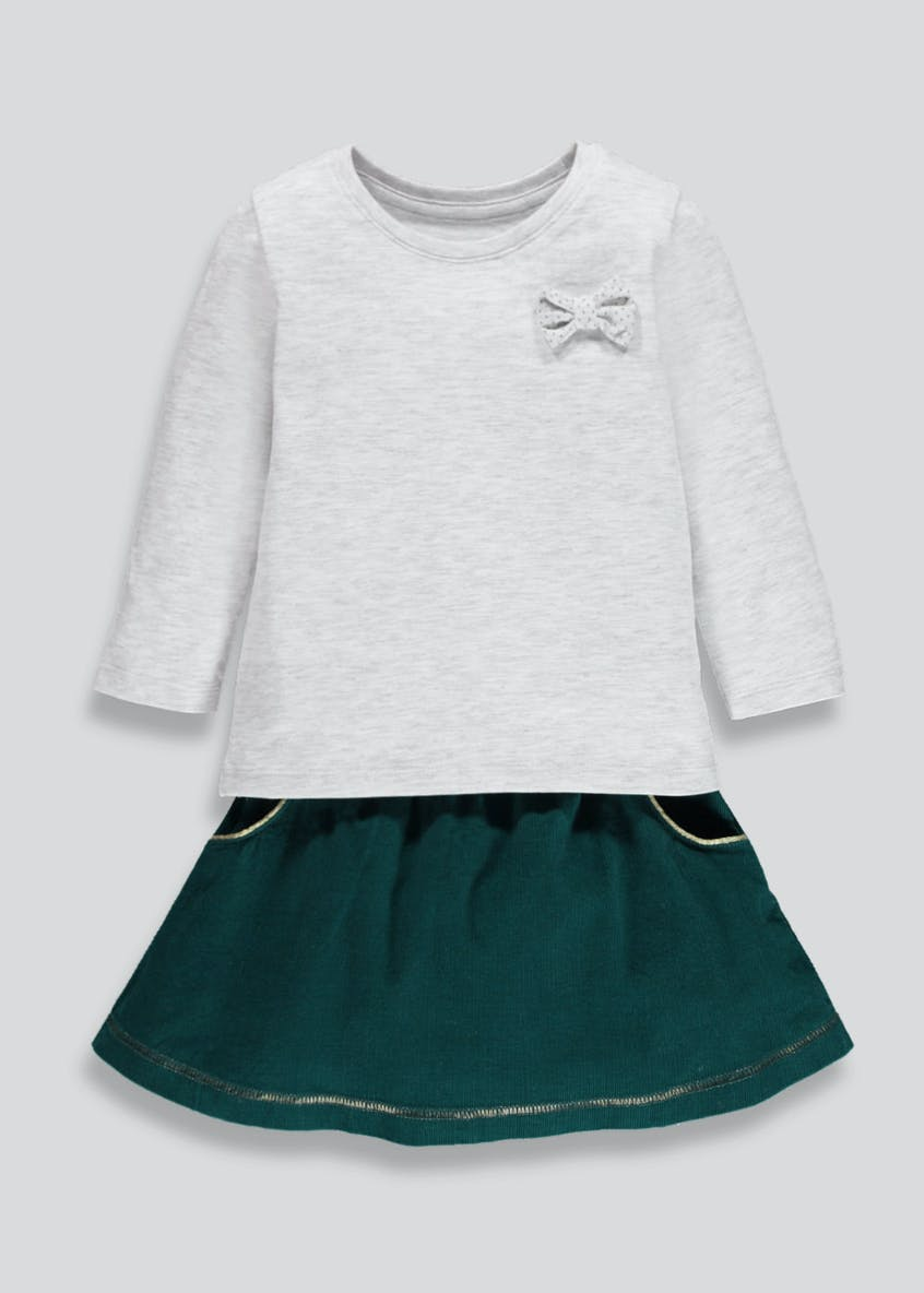 Girls Cord Skirt & Top Set (3mths-6yrs)