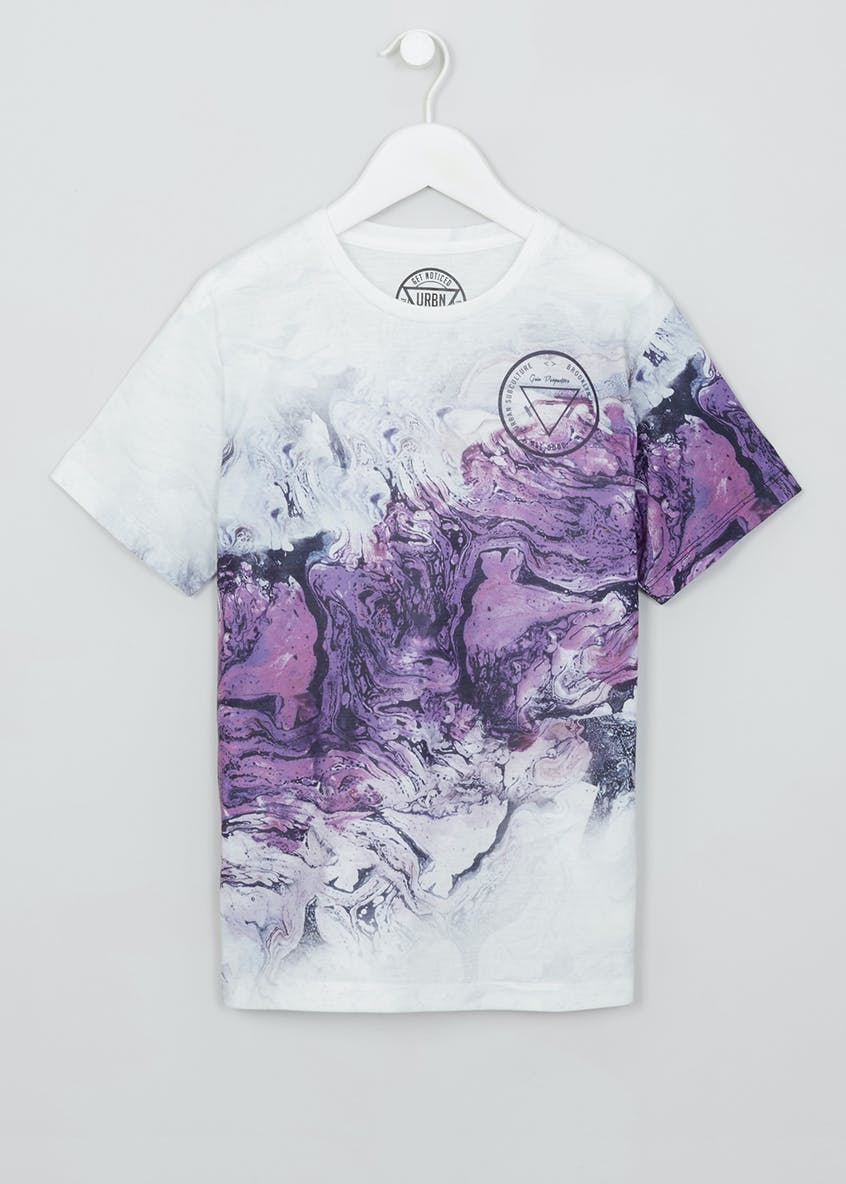 Boys Marble Print T-Shirt (9-16yrs)