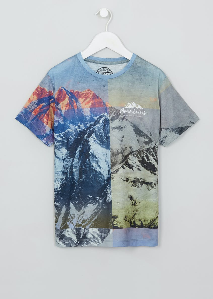 Boys Mountain Print T-Shirt (9-16yrs)