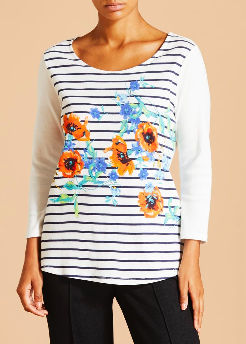 Floral Stripe Top