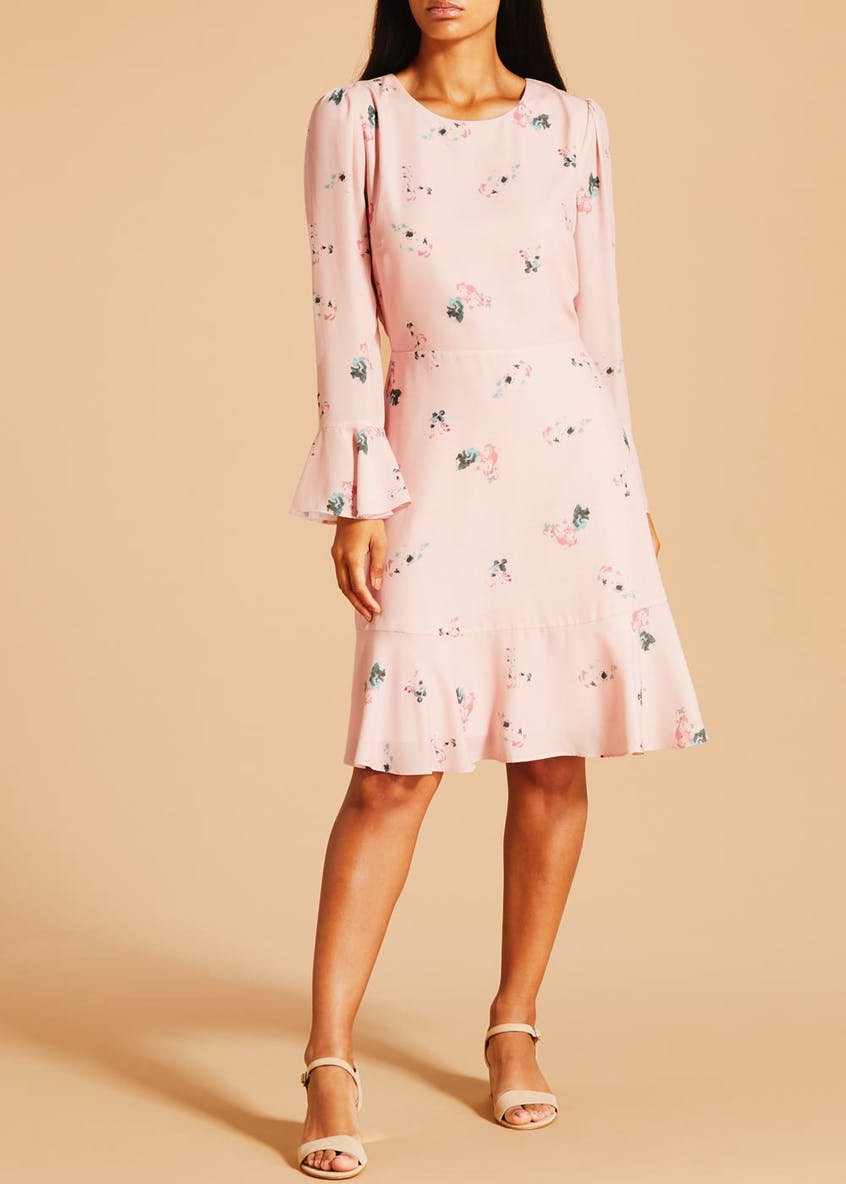 FWM Floral Long Sleeve Dress - Pink