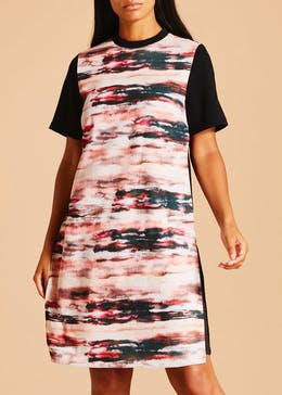 FWM Printed Shift Dress - Black