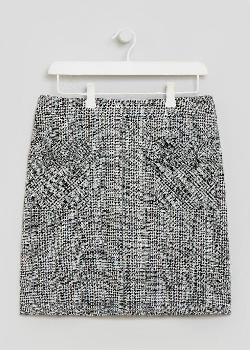 Check Pocket A-Line Skirt