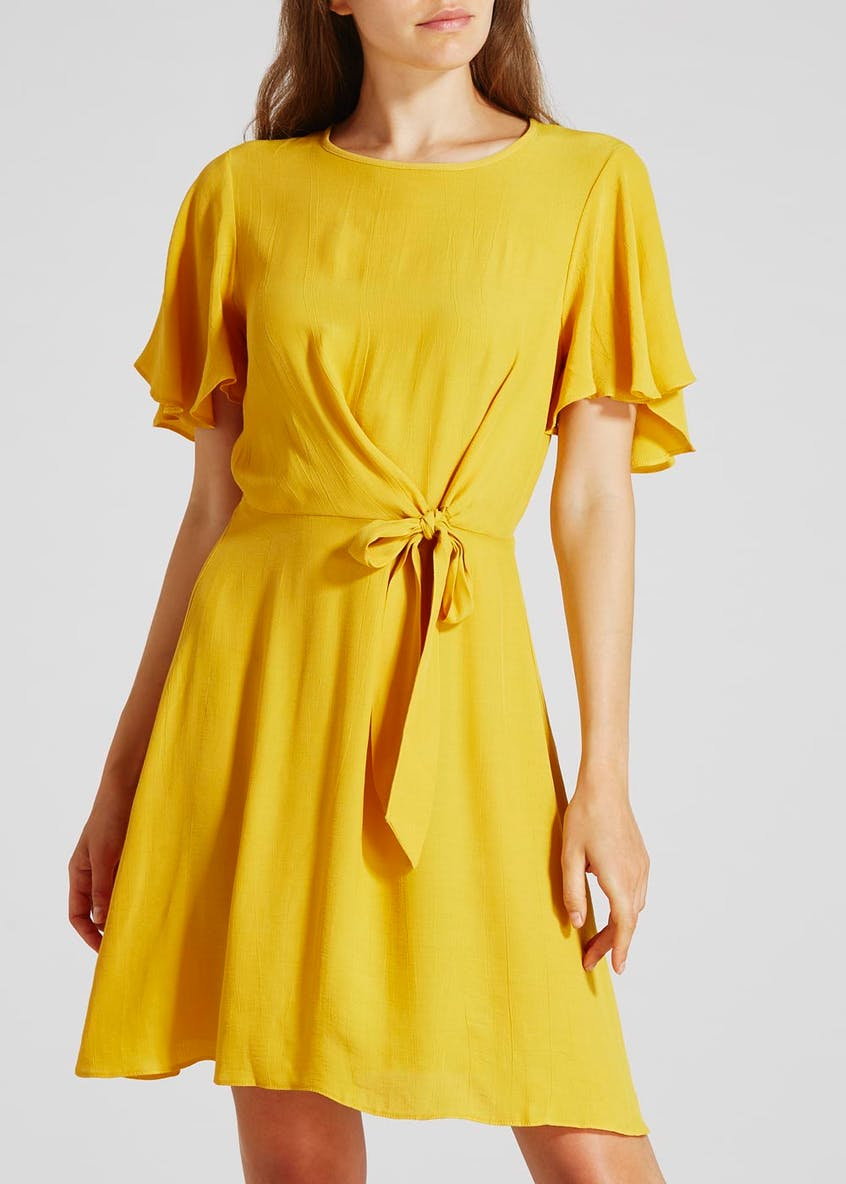 Tie Front Dress - Yellow