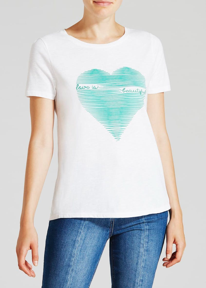 Heart Slogan T-Shirt