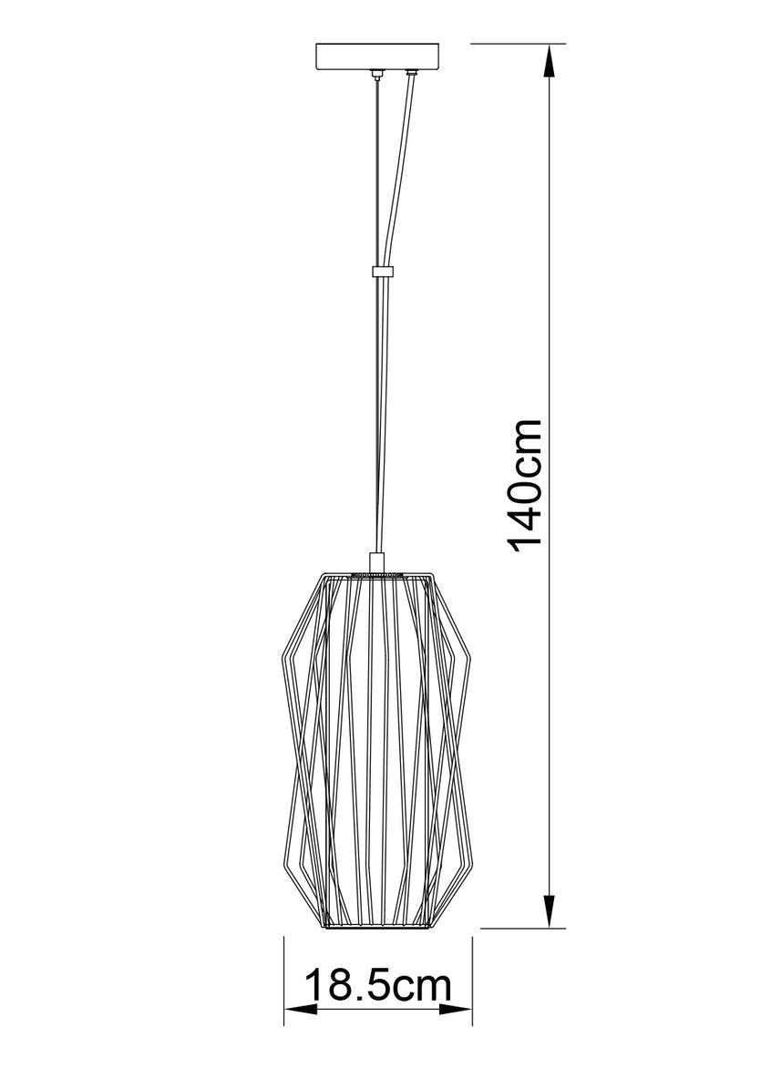 Hector Wire Pendant Light (H140cm x W19cm)