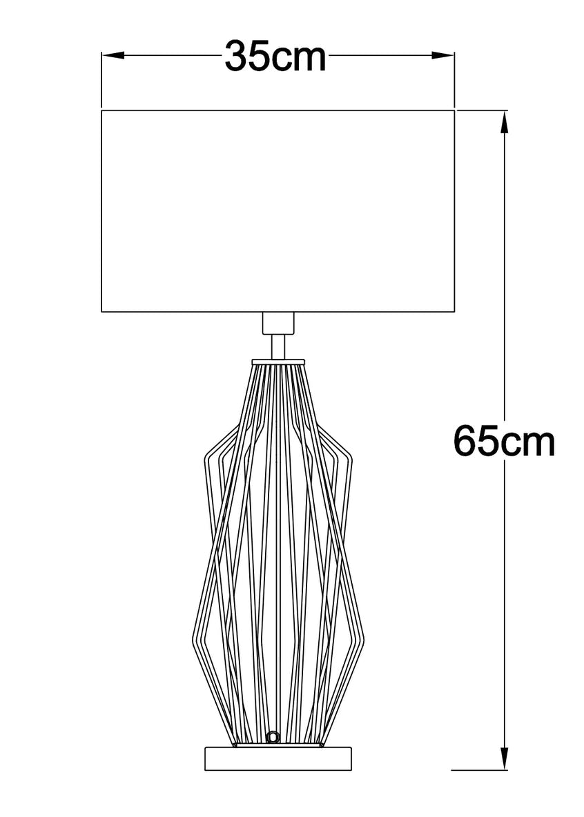 hector wire table lamp (h30cm x w23cm)