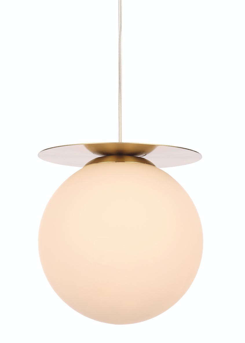Stella Opal Glass Ball Pendant Light (H125-50cm x W27cm)