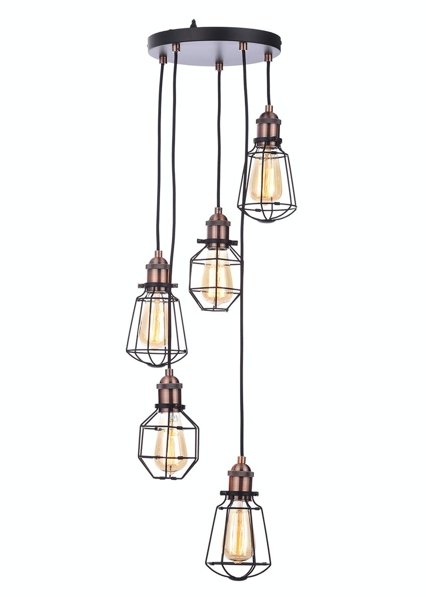 Callisto Caged Cluster Light (H50-100cm x W33cm)