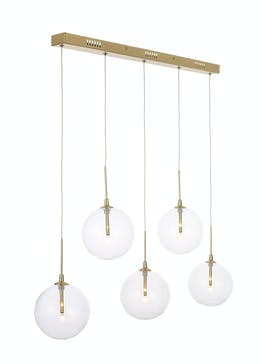 Byron 5 Bulb Bar Cluster Light (H40-100cm x W15cm)
