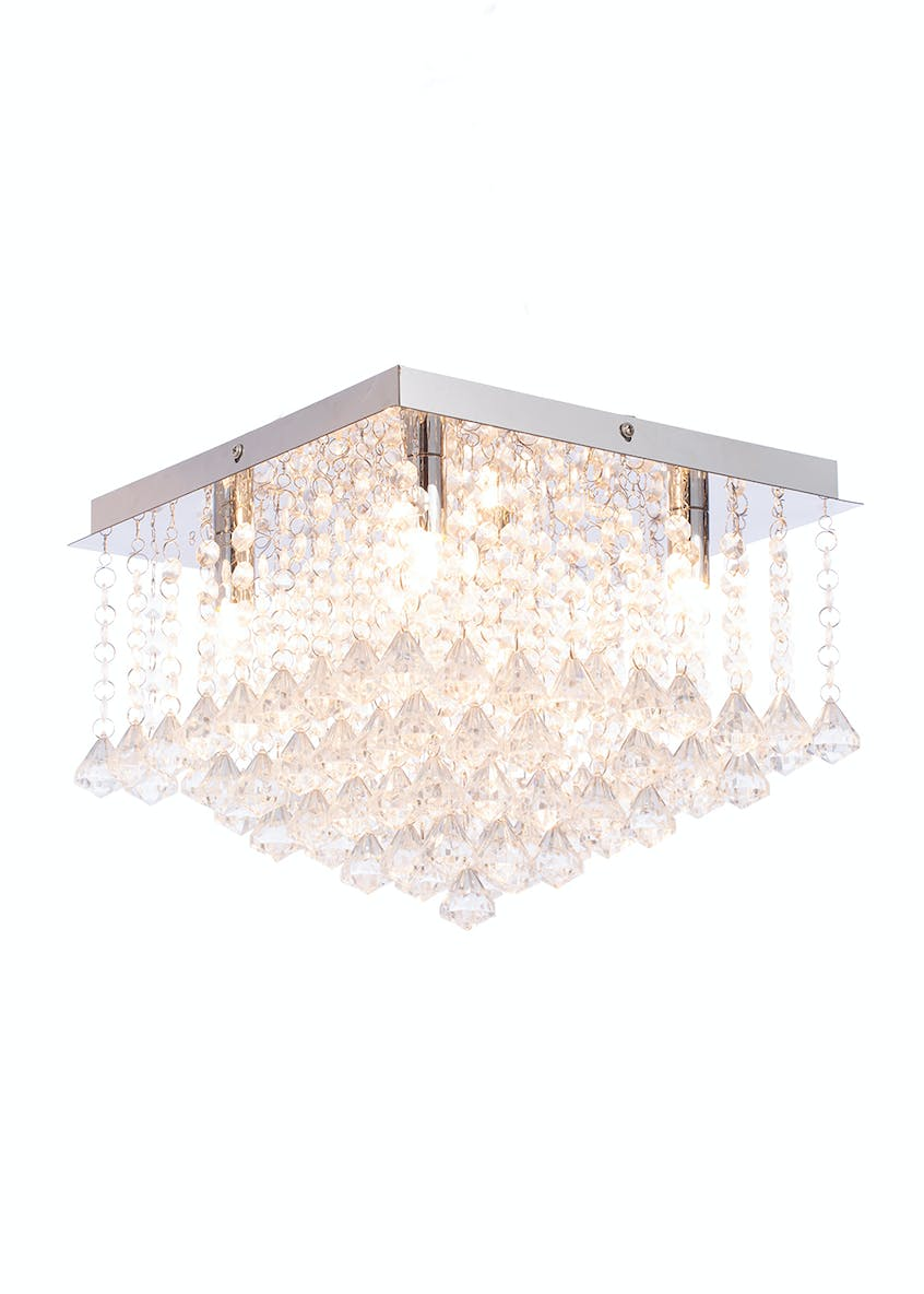 Lexi Square Flush Pendant Light (H24cm x W30cm)