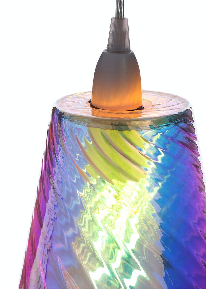 Mateo Iridescent Easy Fit Lamp Shade (H25cm x W18cm)