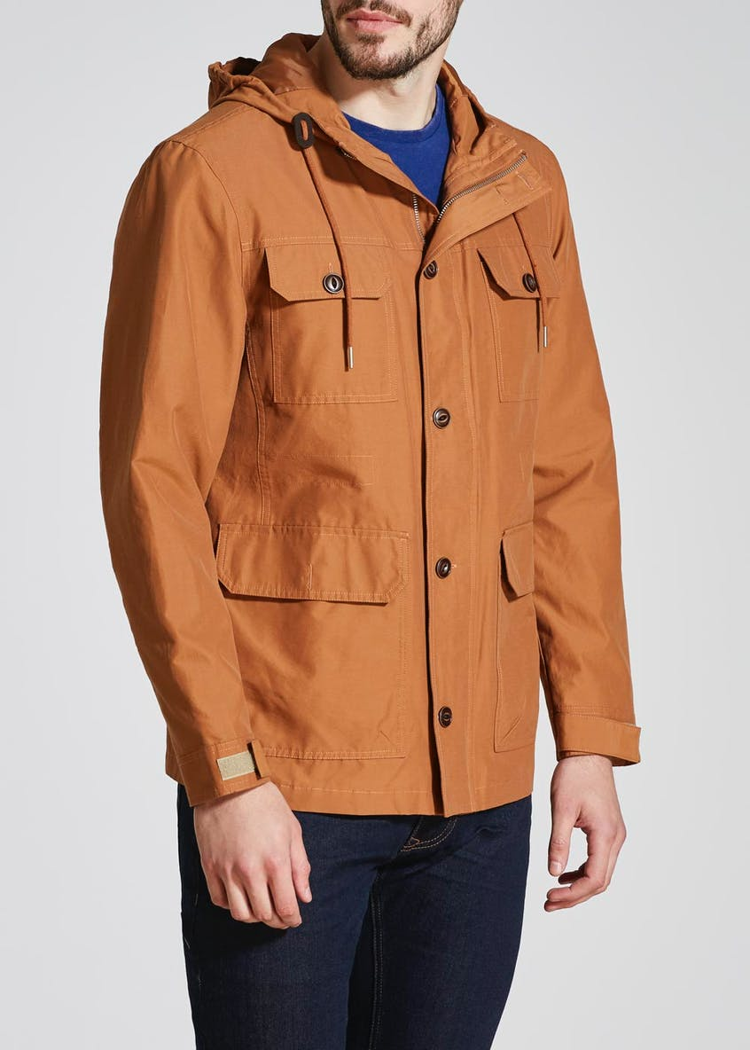 Big & Tall Longline Hooded Jacket