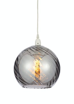 Dawn Smoked Glass Easy Fit Lamp Shade (H24cm x W25cm)
