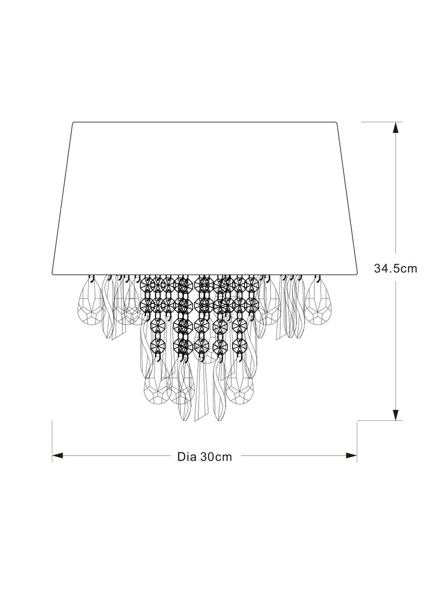 Rosalie Shadelier Easy Fit Lamp Shade (H35cm x W30cm)